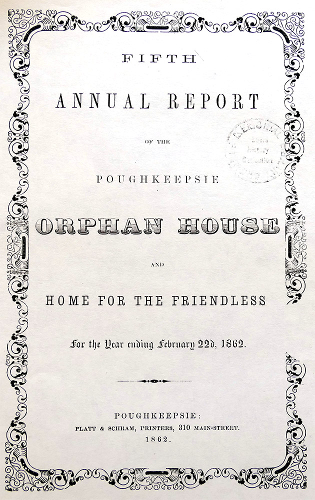 photo of the Fifth Annual Report dated February 22, 1862